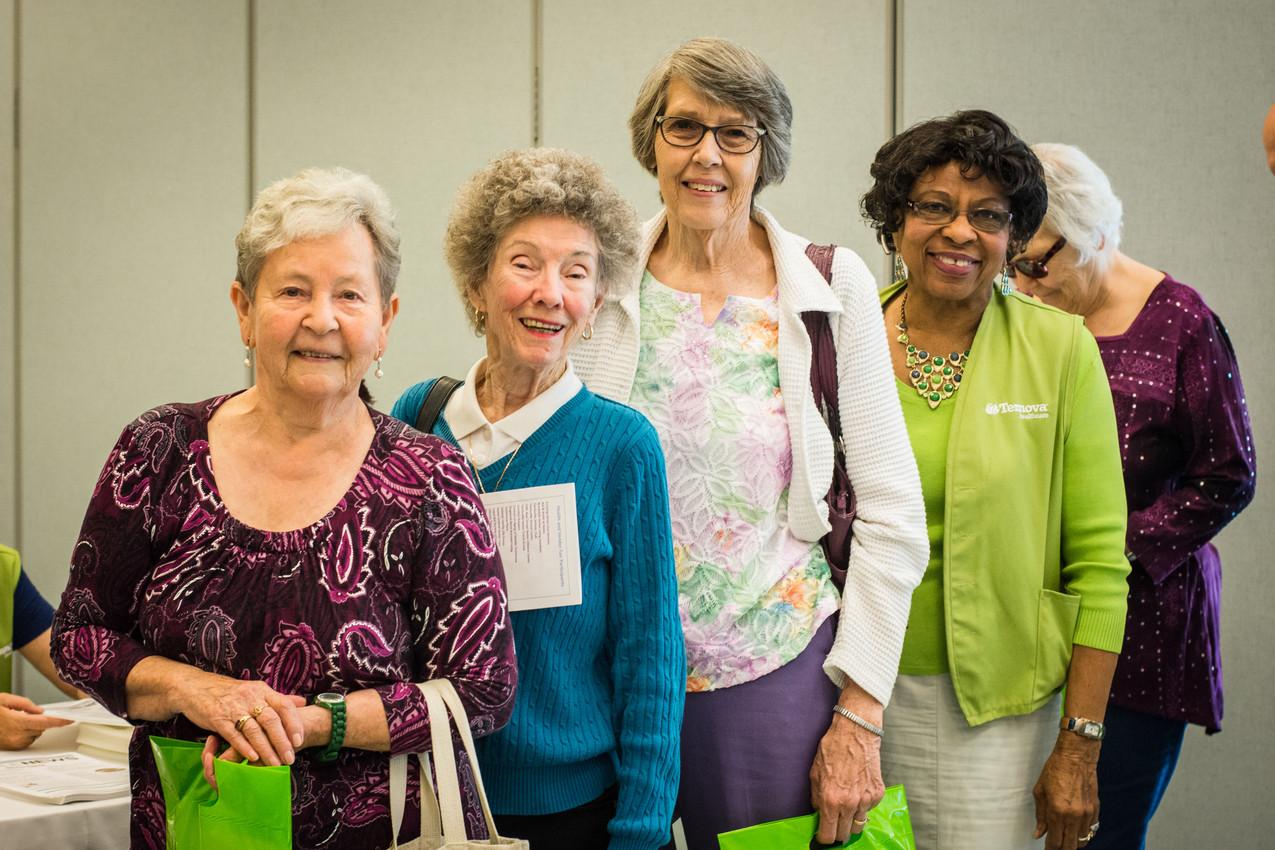 Pauline Sailors, Betty Brandon, Bertha Drew, and Virdie Shaw