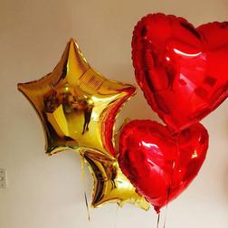Estrelas e corações Metalizados_Entrega