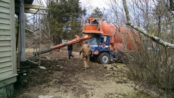 Concrete Mixer arrives March 9