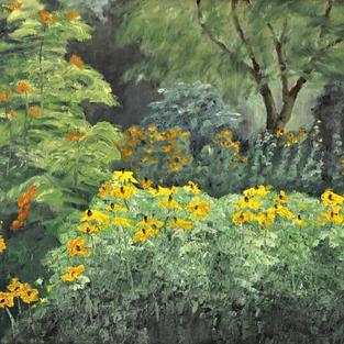 """Bee Garden, 16"""" x 20"""""""