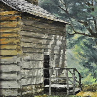 """Cabin in the Woods, 16"""" x 20"""""""