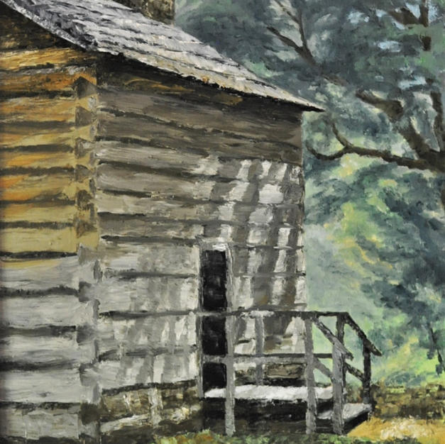 "Cabin in the Woods, 16"" x 20"""