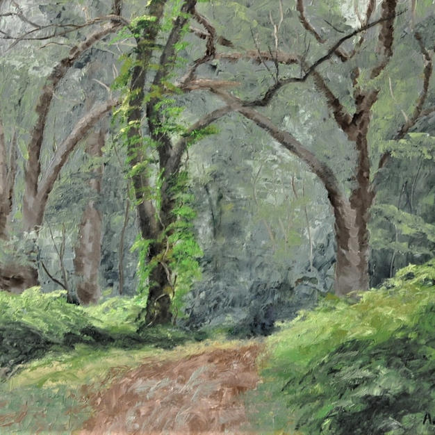 "Forest Trail, 16"" x 20"""