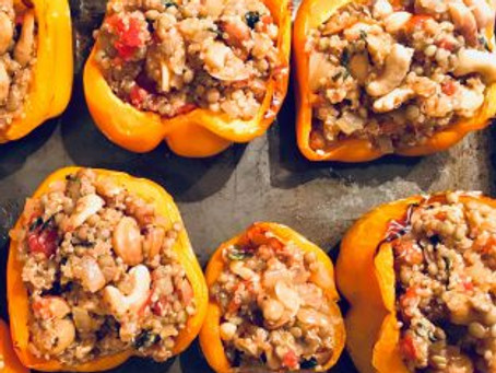 The Quinoa and Lentil Stuffed Peppers