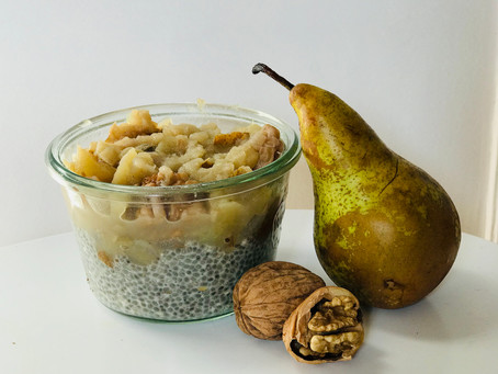 The spiced chia & pear pudding