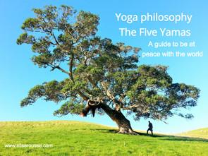 Yoga philosophy – The Yamas