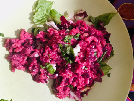 The Beetroot and Feta Risotto