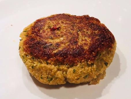 The cauliflower and quinoa patties