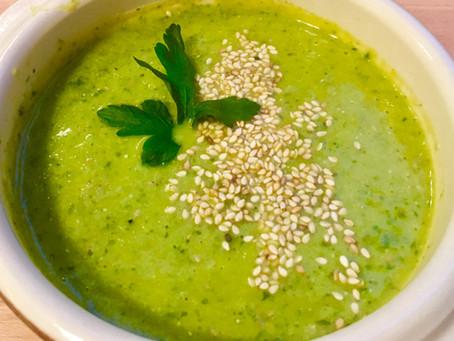 The lemony broccoli soup