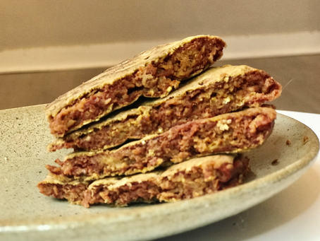 Oat Bran & Carrot Pancakes (with a twist)