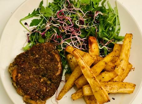 Burgers aux champignons (vegan & sans gluten)
