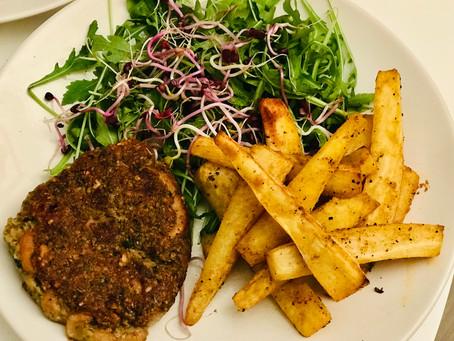 Mushroom & Oat veggie burgers (vegan & gluten-free)