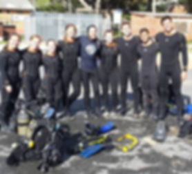 group activity, born diving, cape town, end year functions