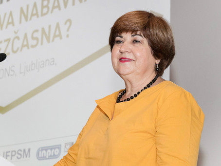 IFPSM President Marina Lindič's greetings to the IFPSM Council meeting