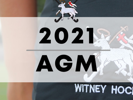 29.06.2021 - Details of the Witney Hockey 2021 AGM