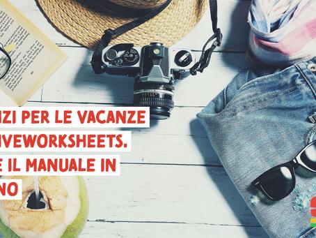 Compiti per le vacanze con Liveworksheets