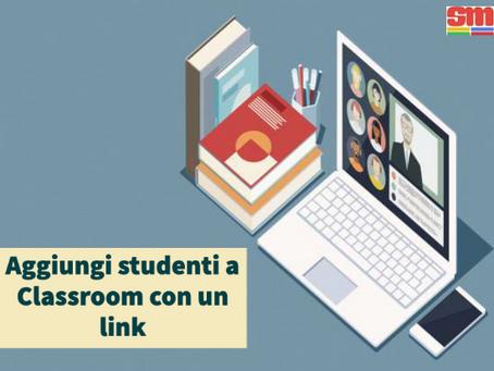 Link per aggiungere studenti a Classroom