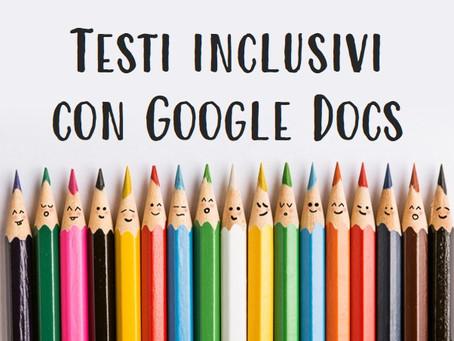 Manuale per la produzione di testi inclusivi con Google Docs