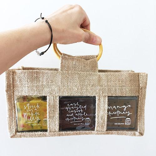 3 jar gift bag