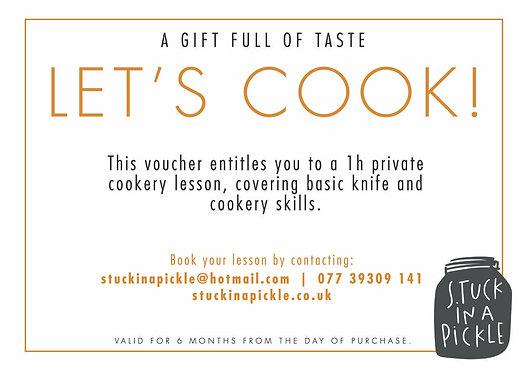 Basic cookery skills lesson