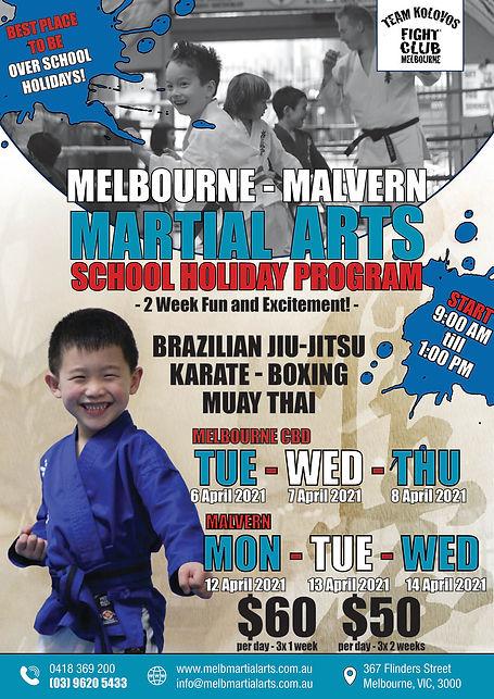 Karate school holiday program Malvern