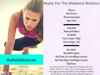 Start of the weekend right with a killer workout....