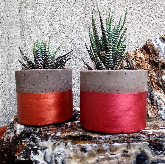 AZXAZ 2 macetas colgantes de pl/ástico con 4 ganchos color rojo y beige