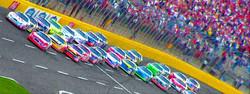 Auto Racing Digital Painting