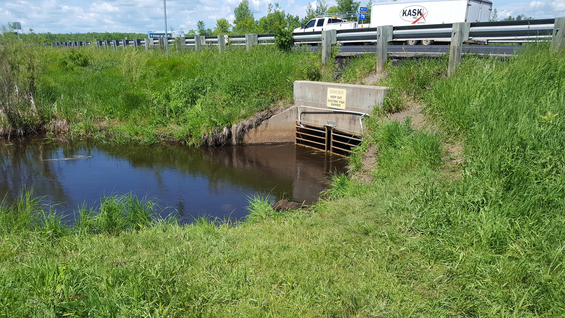 2017 Update to electric fish barrier