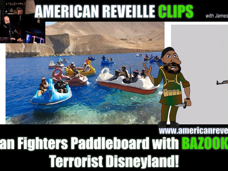 Taliban Fighters Paddleboard with BAZOOKAS in Terrorist Disneyland! [Clip]