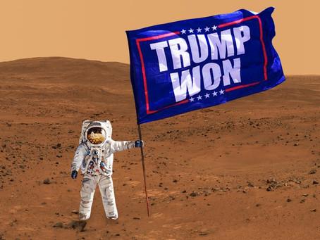 Meme Warfare #19: Elon Musk Plants Trump Flag on Mars!