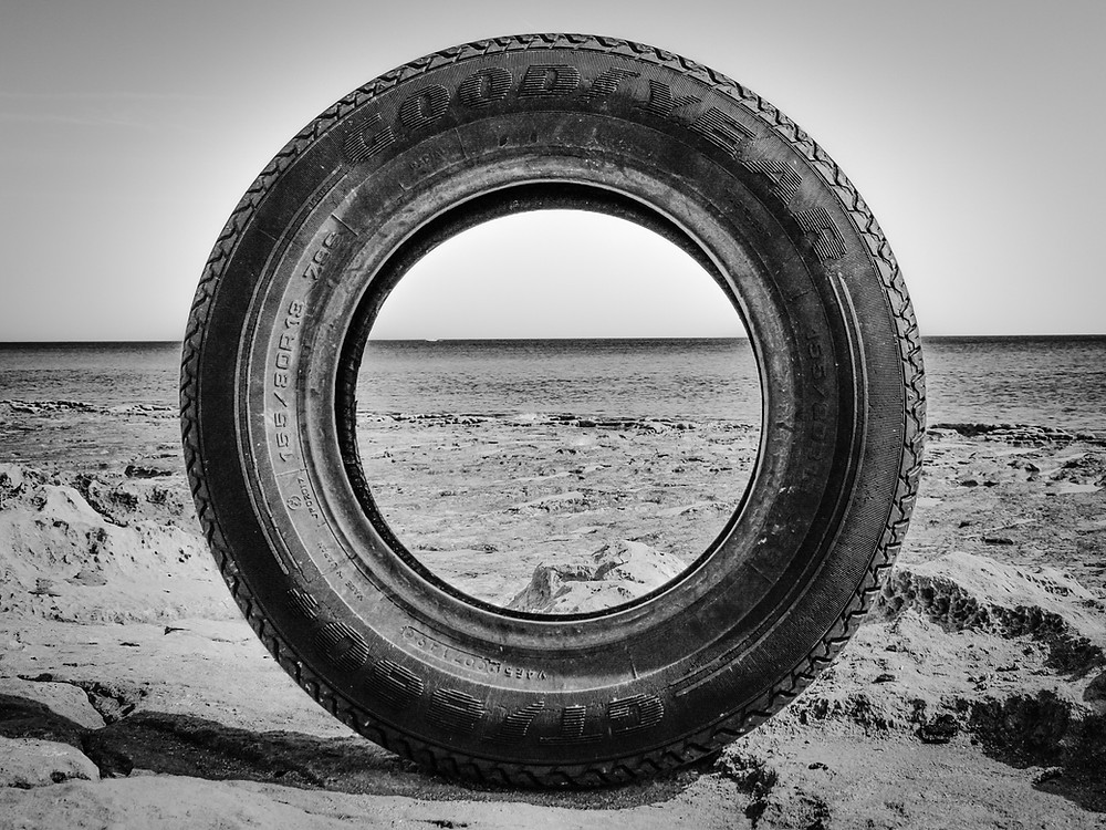Goodyear Tire Rotting in the Desert