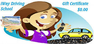 Gift Certificate. Langley driving school