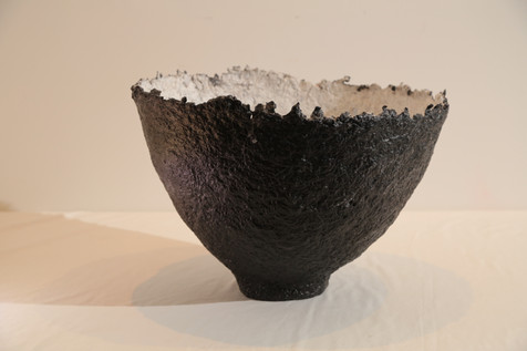 Phoenix large black and white bowl
