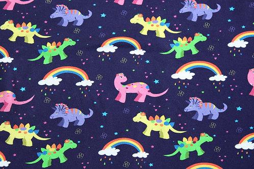 Rainbow Dinosaurs Pinafore Dress