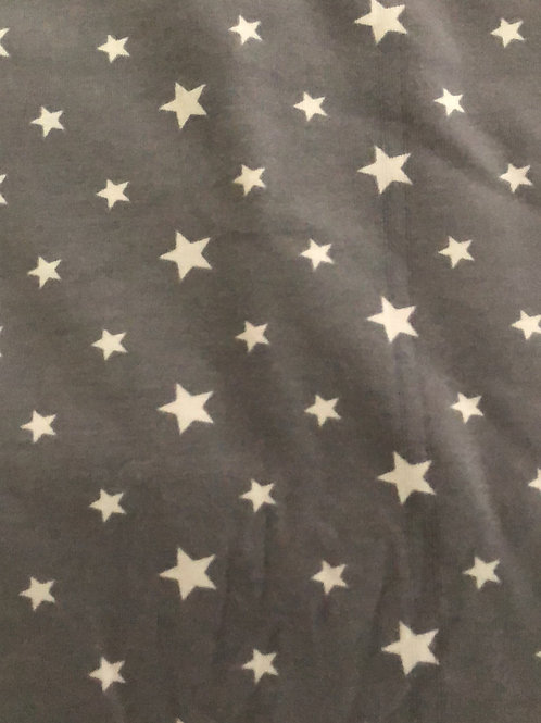 Grey stars Fabric