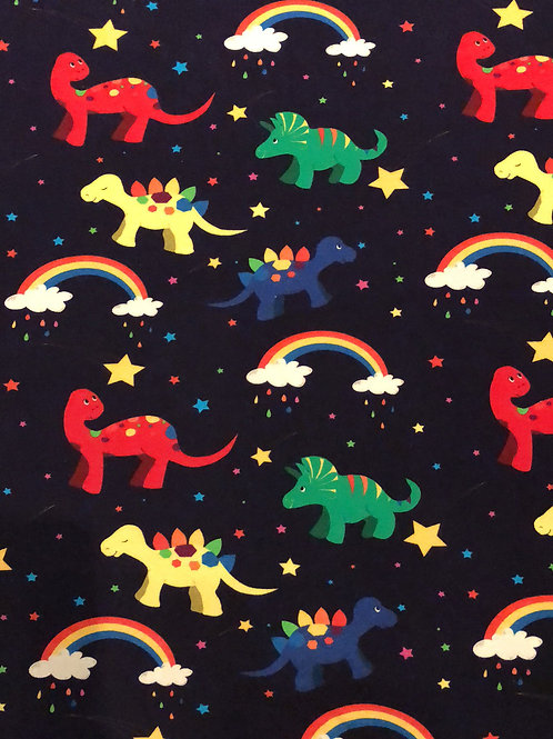 Rainbow Dinos Long/Shortie Romper