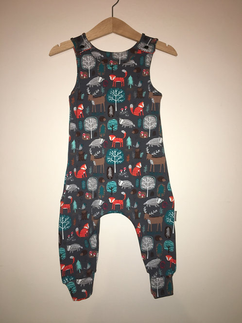 Autumn Woodland Long/Shortie Romper