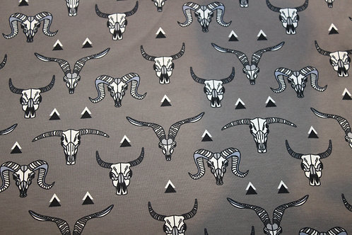 Grey Buffalo Skulls Long/Shortie Romper