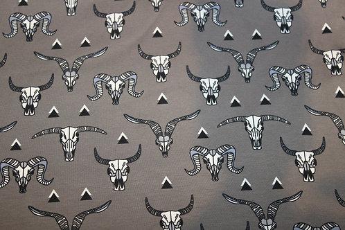 Grey Buffalo Skulls Leggings/Shorts