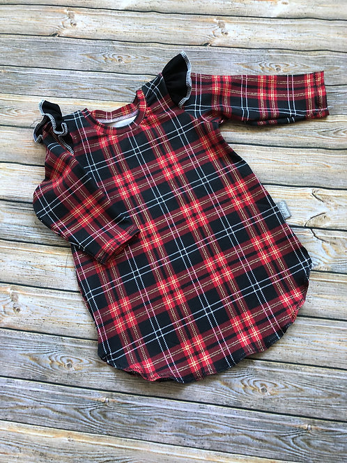Tartan Flutter Dress