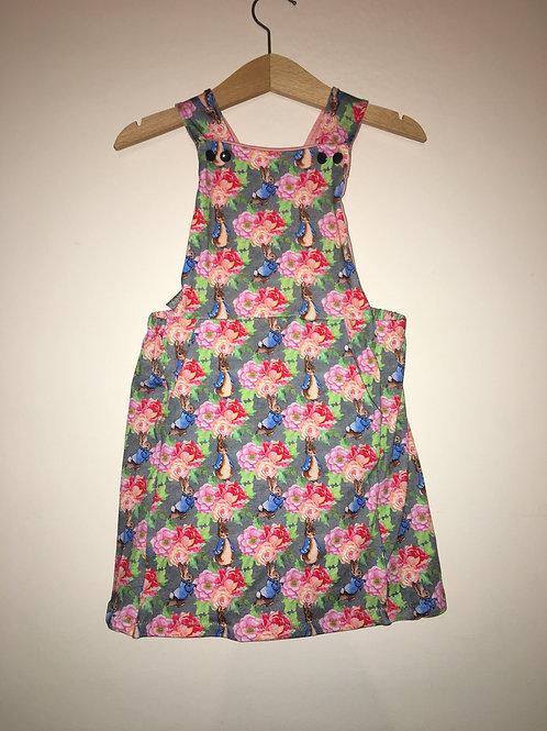 Floral Peter Rabbit Pinafore Dress