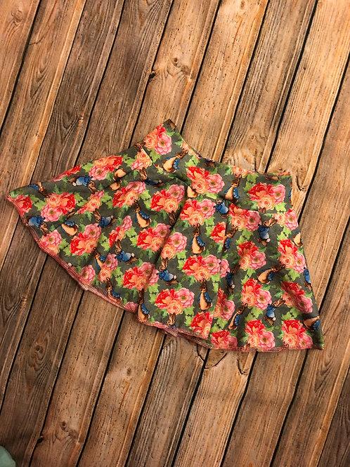 Floral Peter Rabbit Circle Skirt