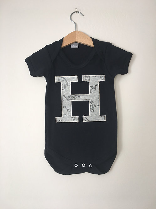 Initial/Number Short Sleeve Body Suit