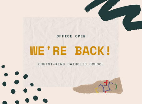 School office now open!