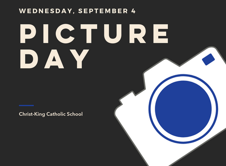 Picture Day is Wednesday, September 4th