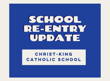 School Re-Entry Update