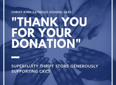 Superfluity makes generous donation