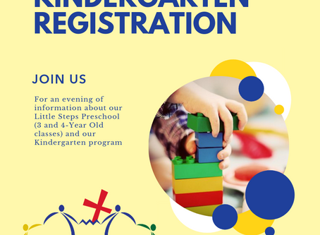 Join Us May 16th for Pre-K and Kindergarten Registration