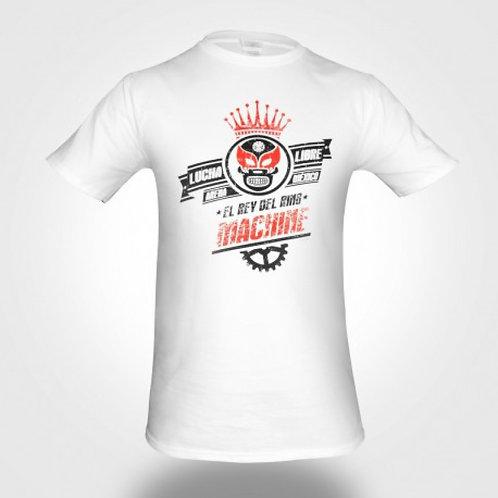 Tričko Machine LUCHA LIBRE - bílé